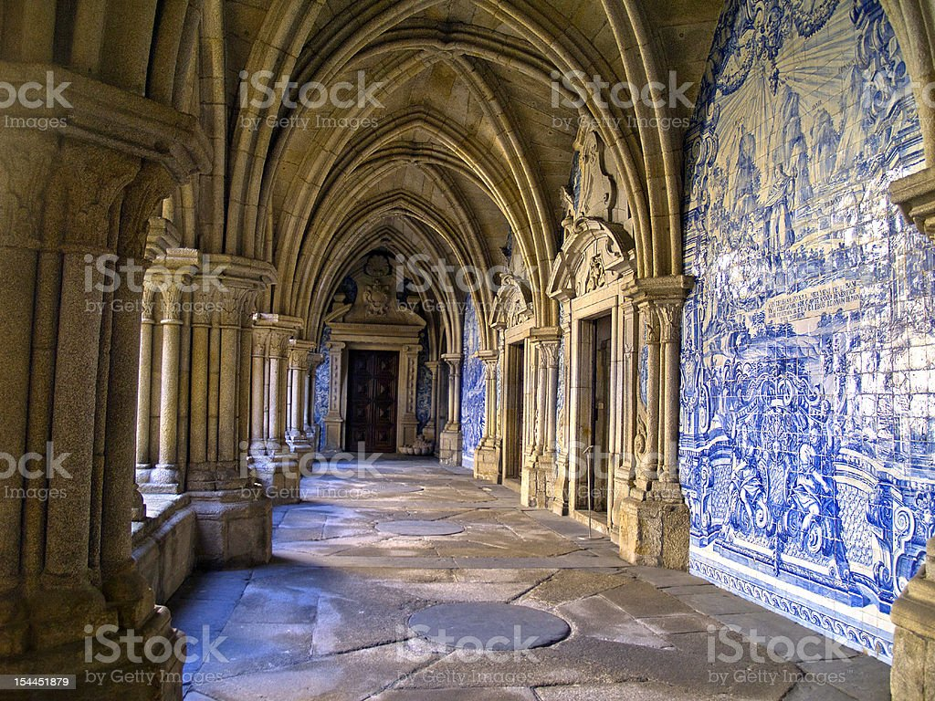 cathedral Se, Porto, Portugal stock photo