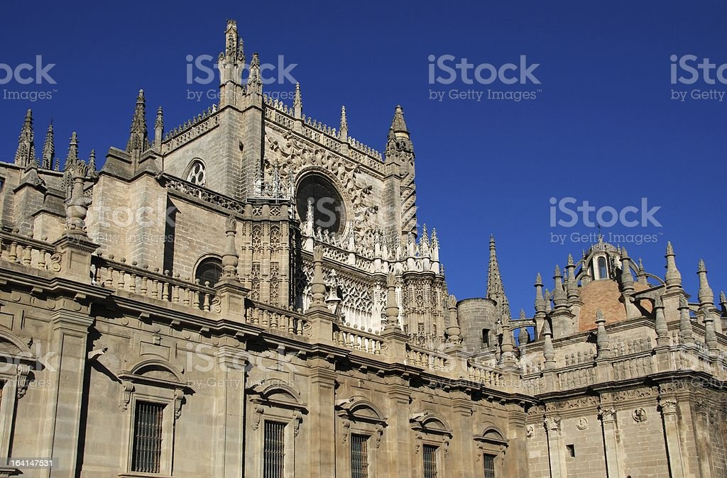 Cathedral, Seville, Andalusia, Spain. royalty-free stock photo