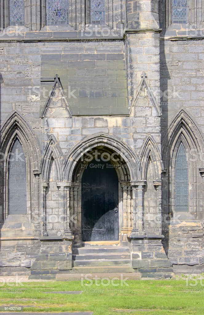Cathedral Side Entrance royalty-free stock photo