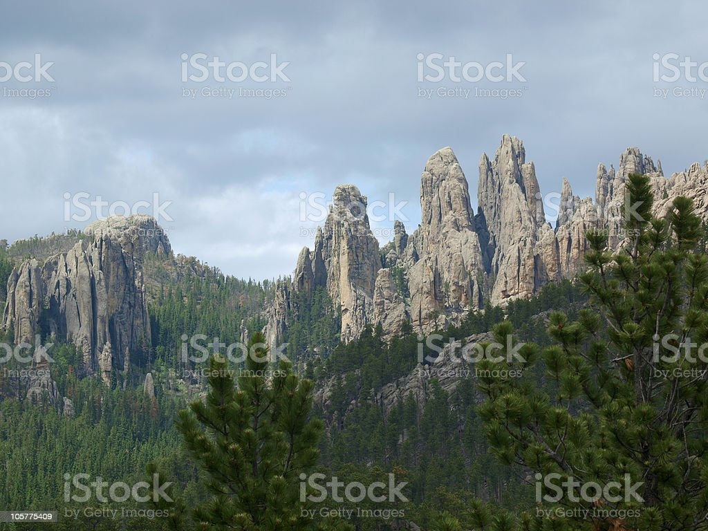 'Cathedral Spires', Custer State Park stock photo