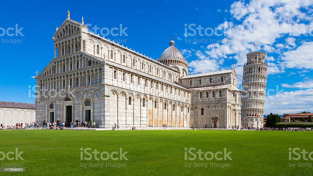 Cathedral Square in Pisa stock photo