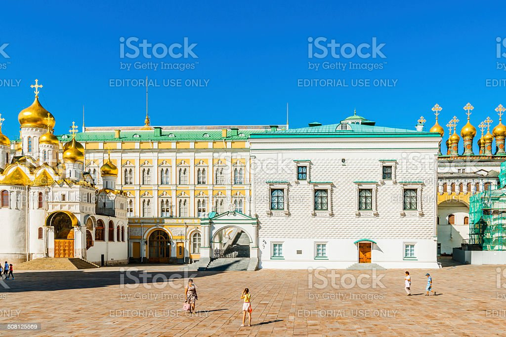 Cathedral square of the Kremlin of Moscow royalty-free stock photo