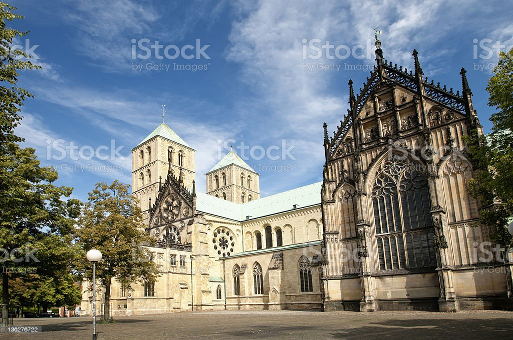 Cathedral St. Paulus in Muenster, Germany stock photo