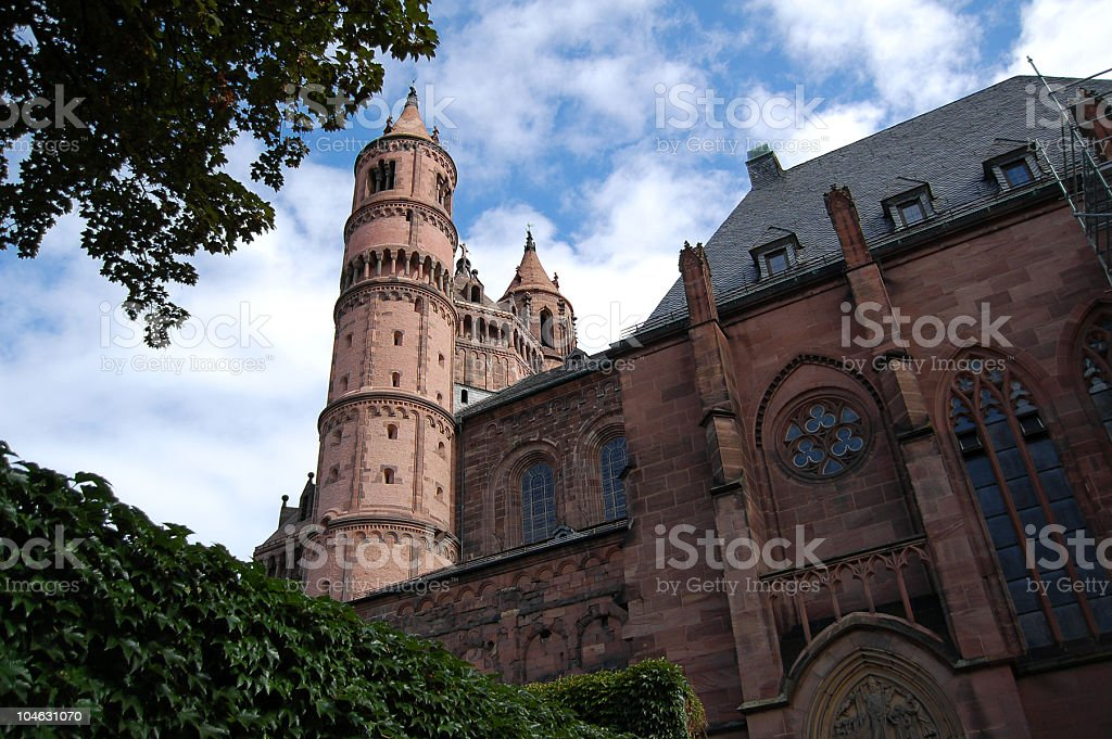 cathedral St. Peter in Worms Germany stock photo