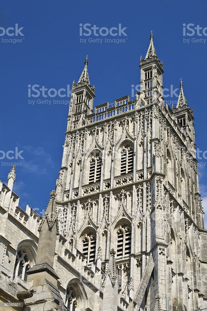 Cathedral Steeple on a Summer Afternoon stock photo