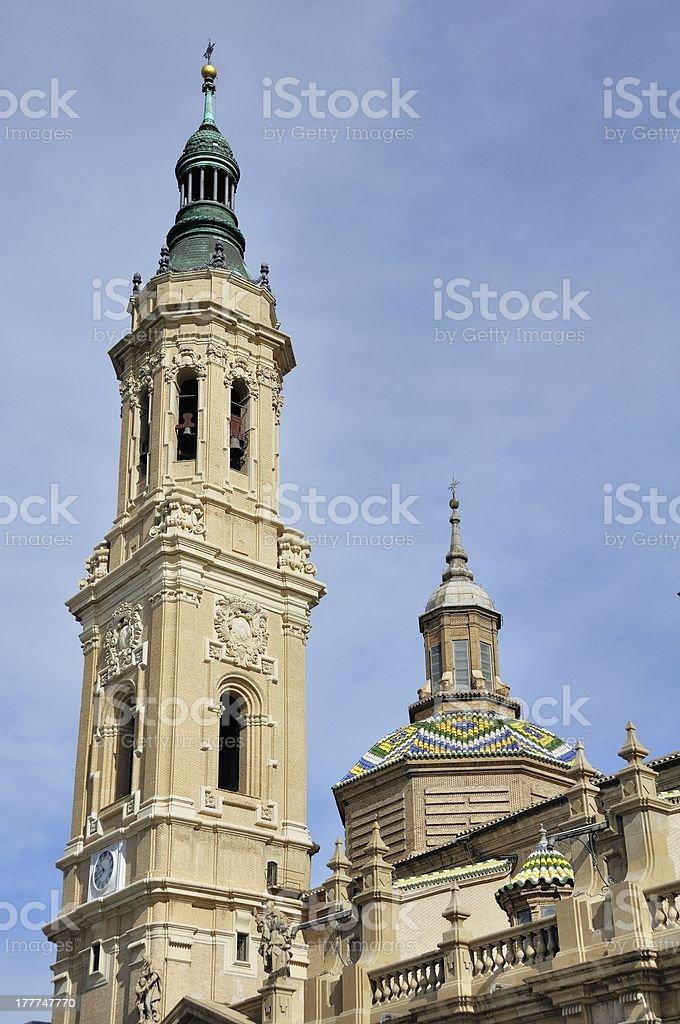 Cathedral The Pilar in Zaragoza, Spain stock photo