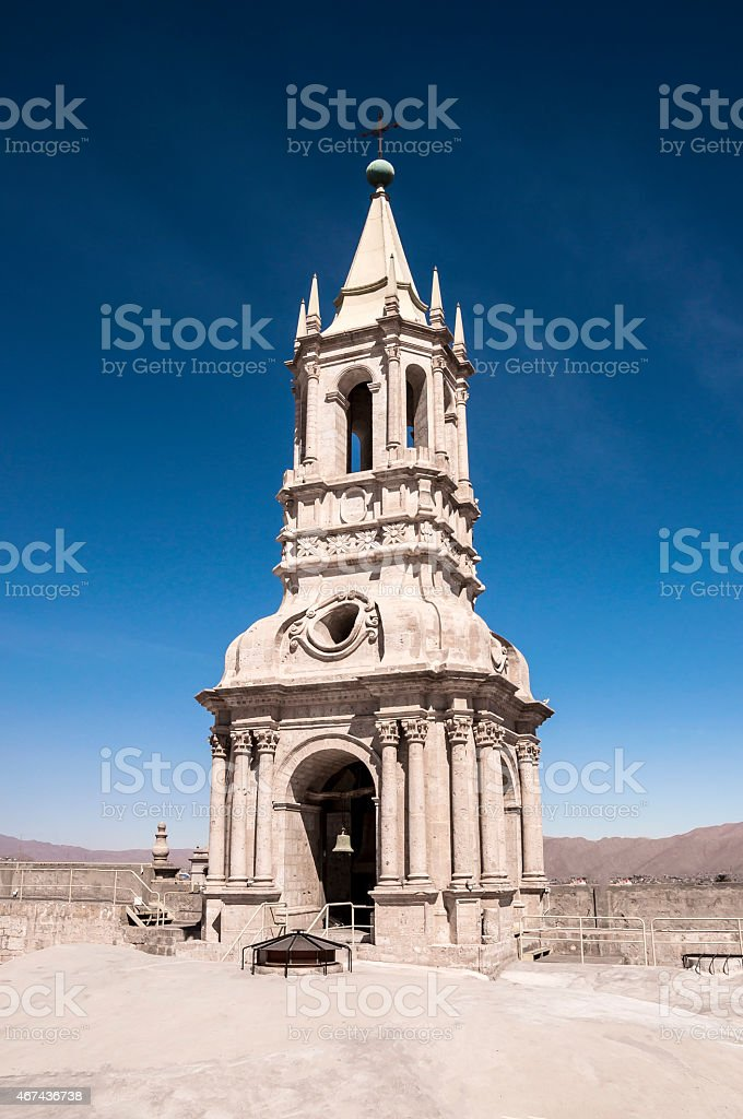 Cathedral Tower bell of Arequipa stock photo
