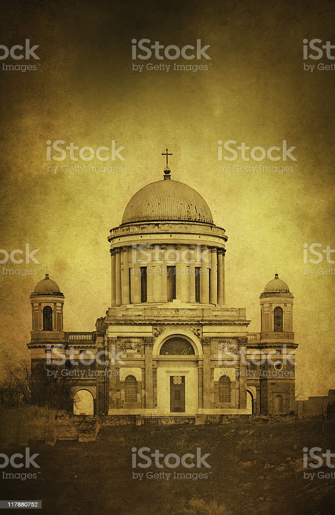 Cathedral vintage photo royalty-free stock photo