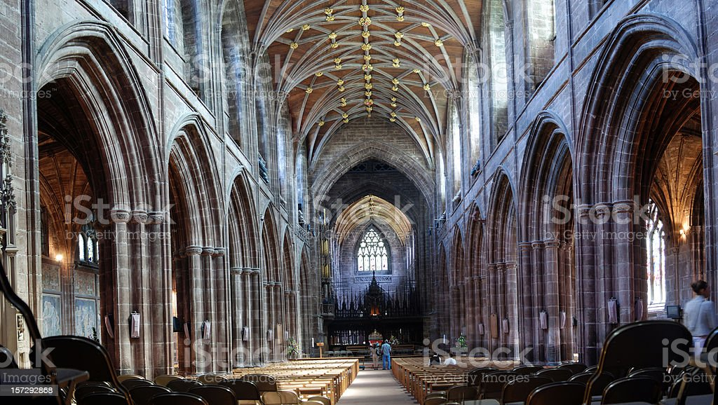 Cathedral - Wide-angle view royalty-free stock photo