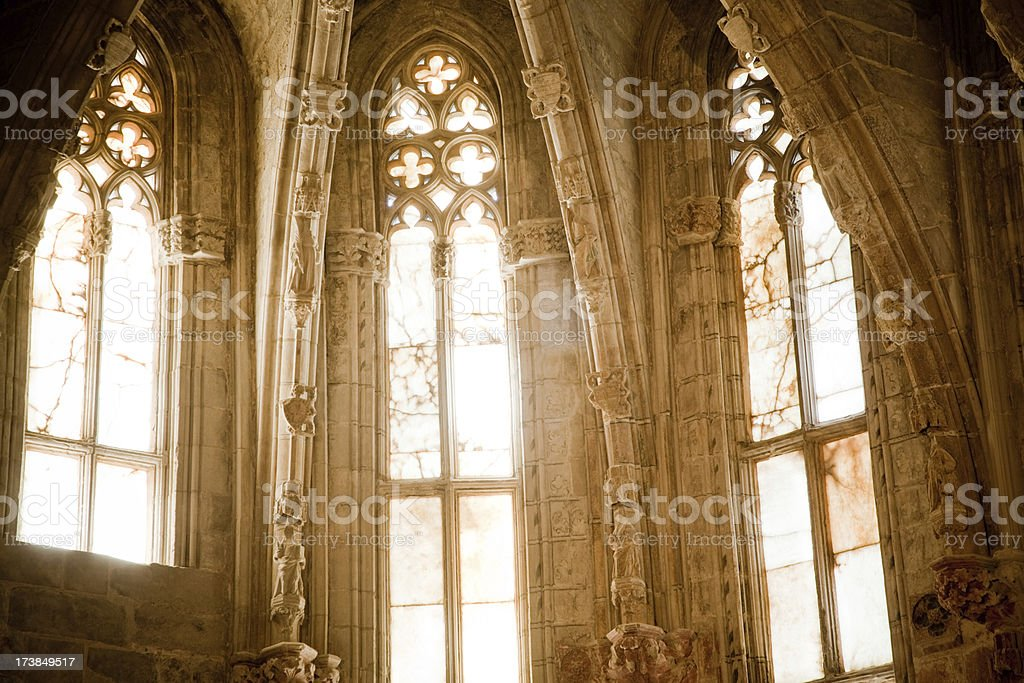 Cathedral Window stock photo