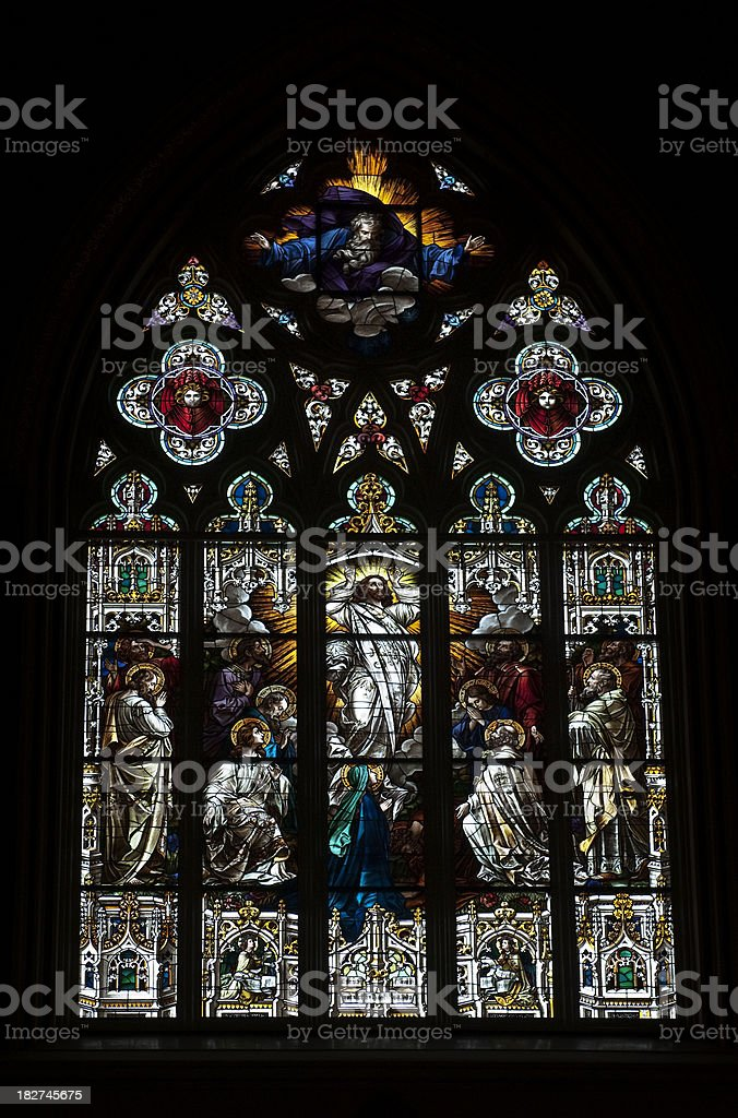 Cathedral Window royalty-free stock photo