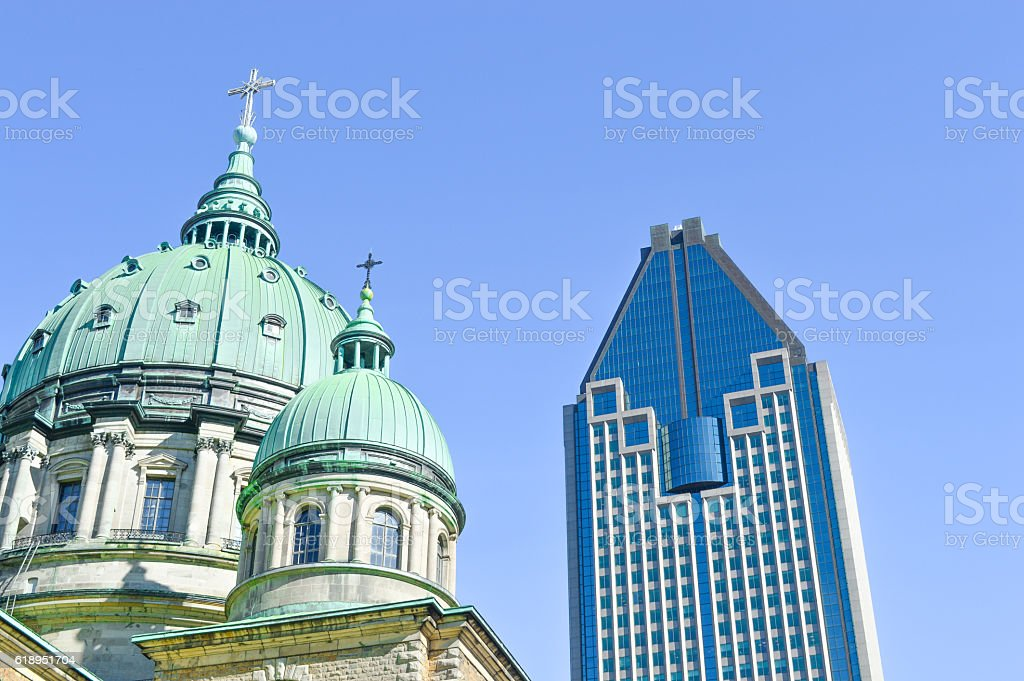 Cathedral-Basilica of Mary stock photo