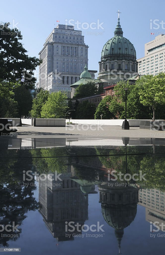 Cathedral-Basilica of Mary Queen of the World in Montreal royalty-free stock photo