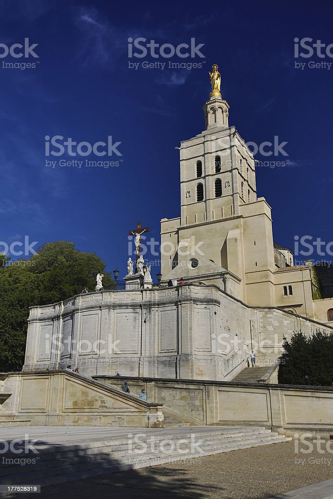 Cathedrale d'Avignon in the sun royalty-free stock photo