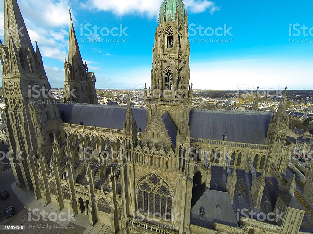 Cathedrale de Bayeux stock photo