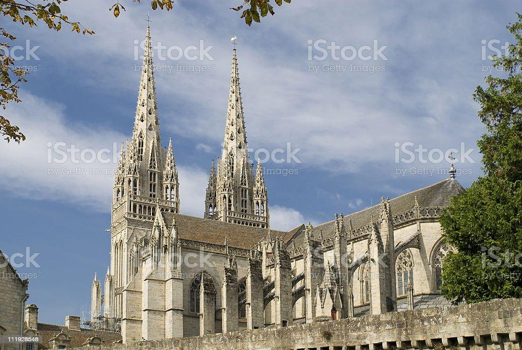 cathedrale de quimper stock photo