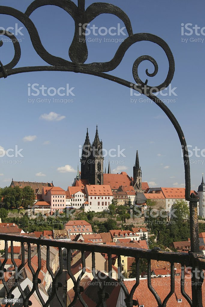 Cathedrale in Meissen stock photo