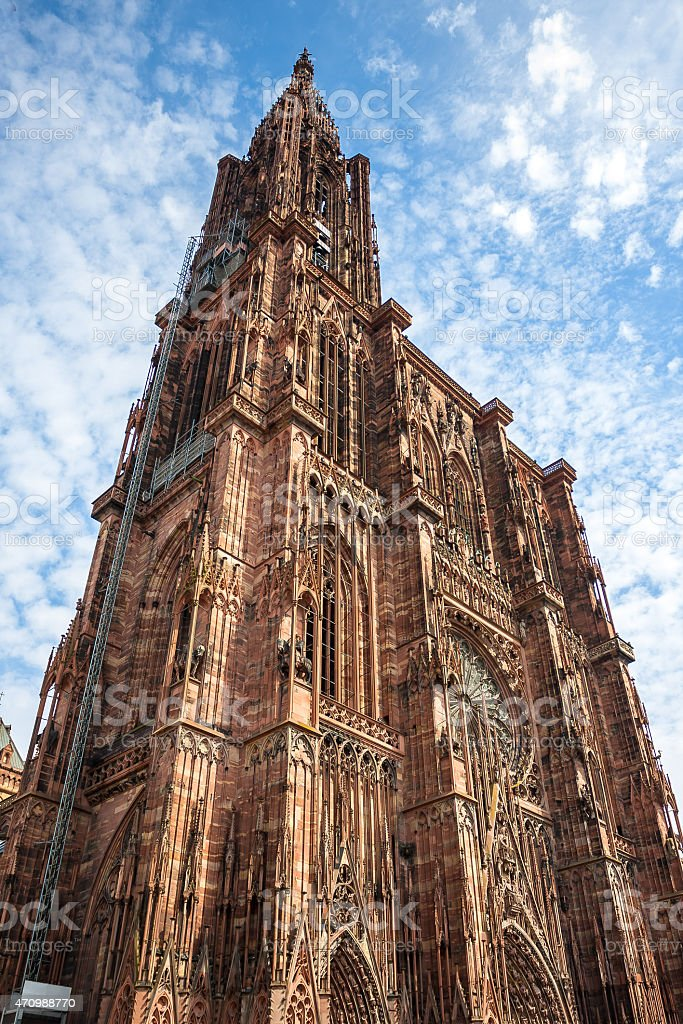 Cathedrale Notre Dame de Strasbourg France stock photo
