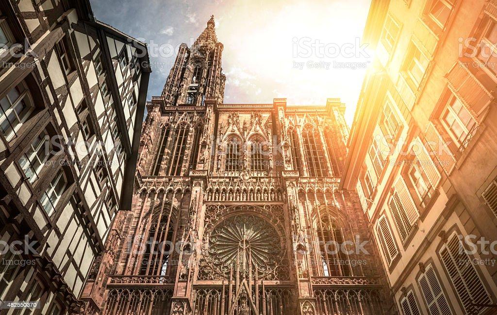 Cathédrale Notre Dame de Strasbourg stock photo
