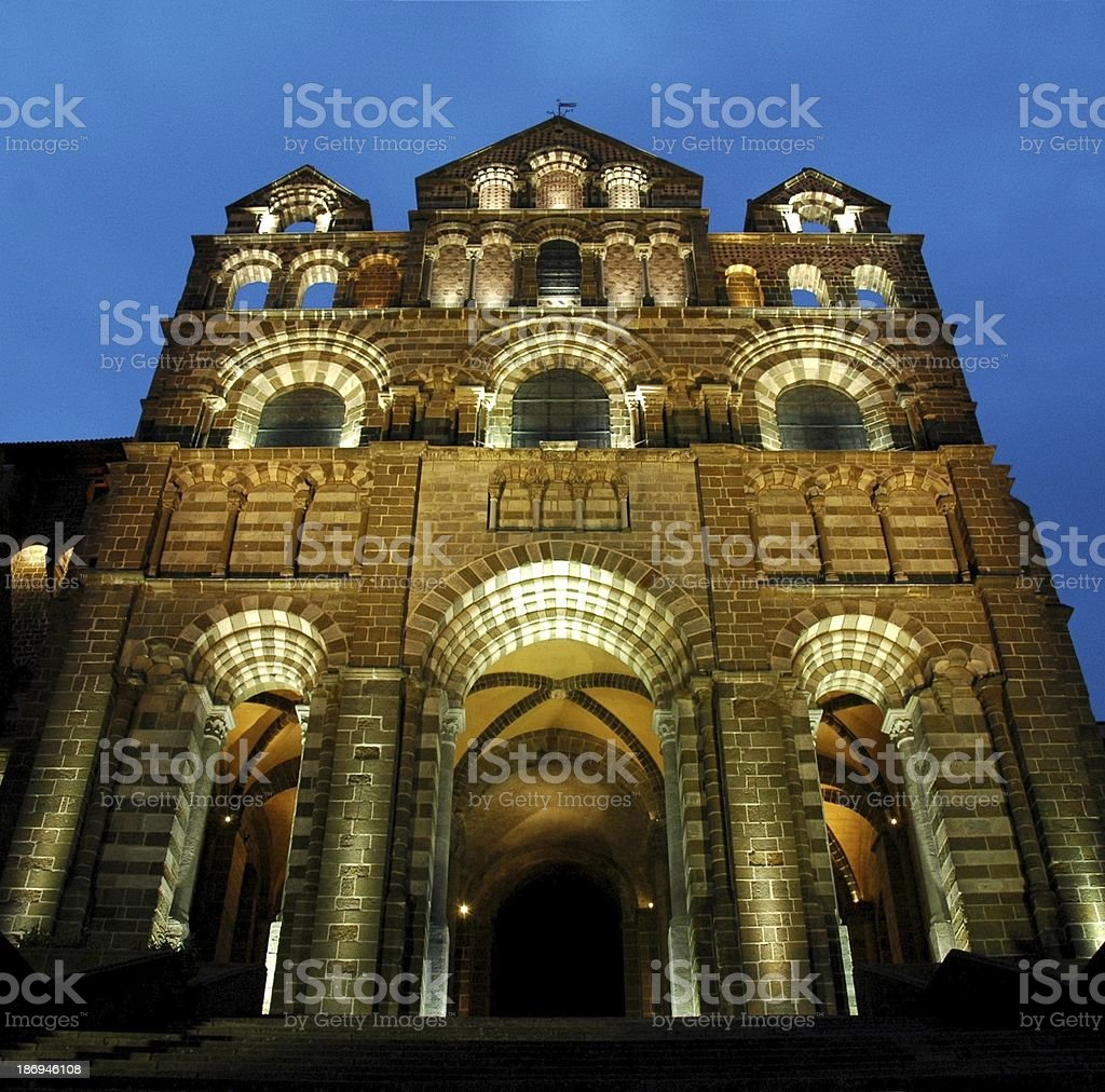 Cathedrale Notre Dame du Puy stock photo