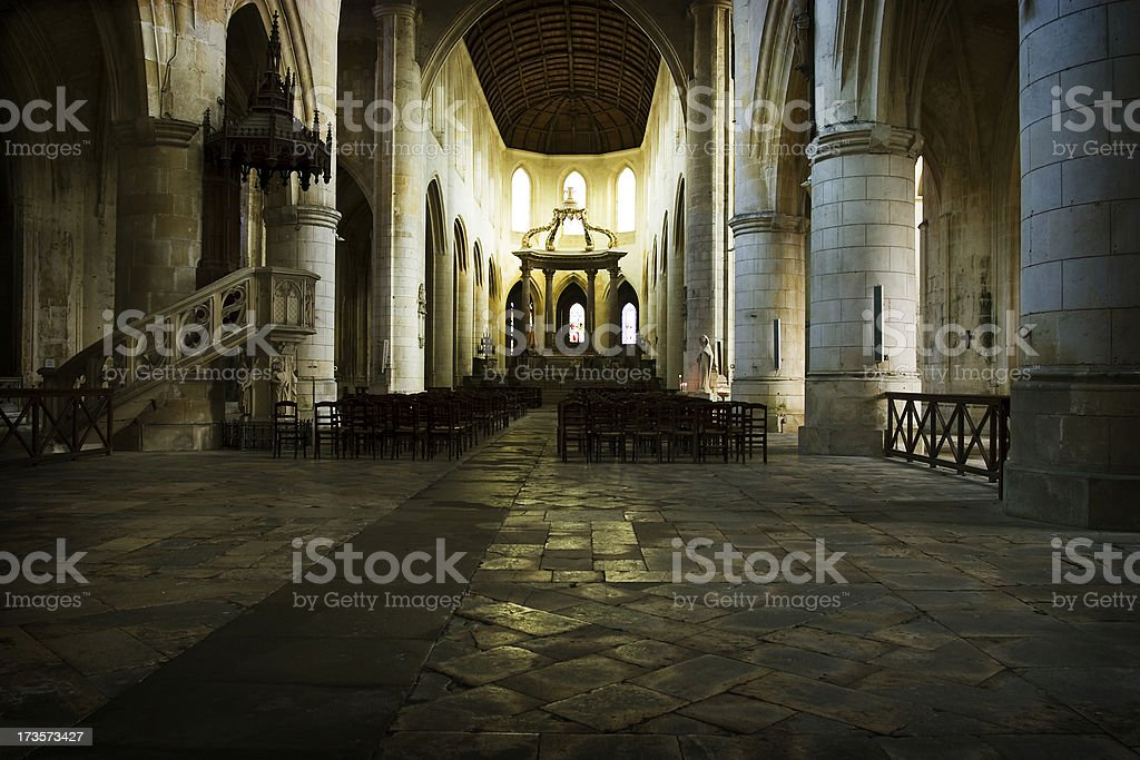 Cathedrale Saint-Pierre, Saintes France royalty-free stock photo