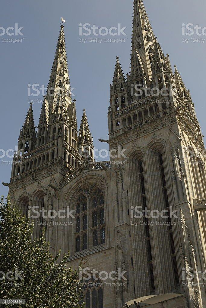 Cathedrale St-Corentin, Quimper stock photo