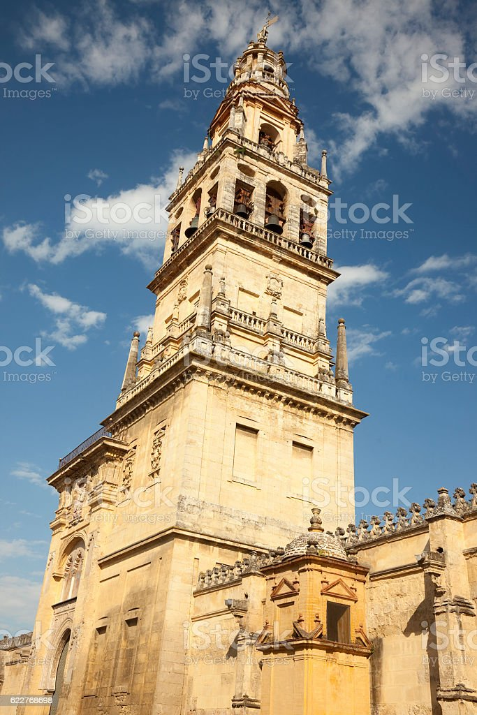 Cathedral-Mosque tower, Cordoba, Spain stock photo