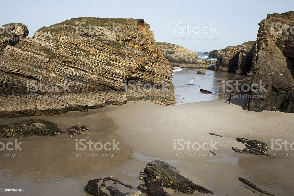 Cathedrals beach, Lugo, Spain. royalty-free stock photo
