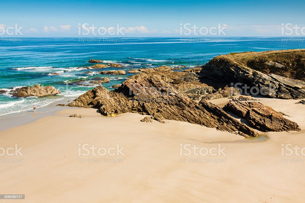 Playa de las Catedrales stock photo