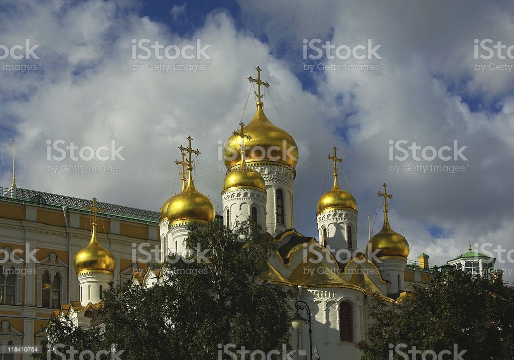 Cathedrals Moscow Kremlin royalty-free stock photo