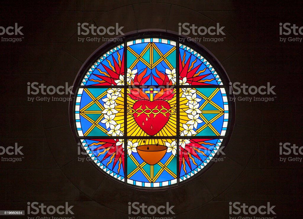 Cathedral's Stained Glass stock photo