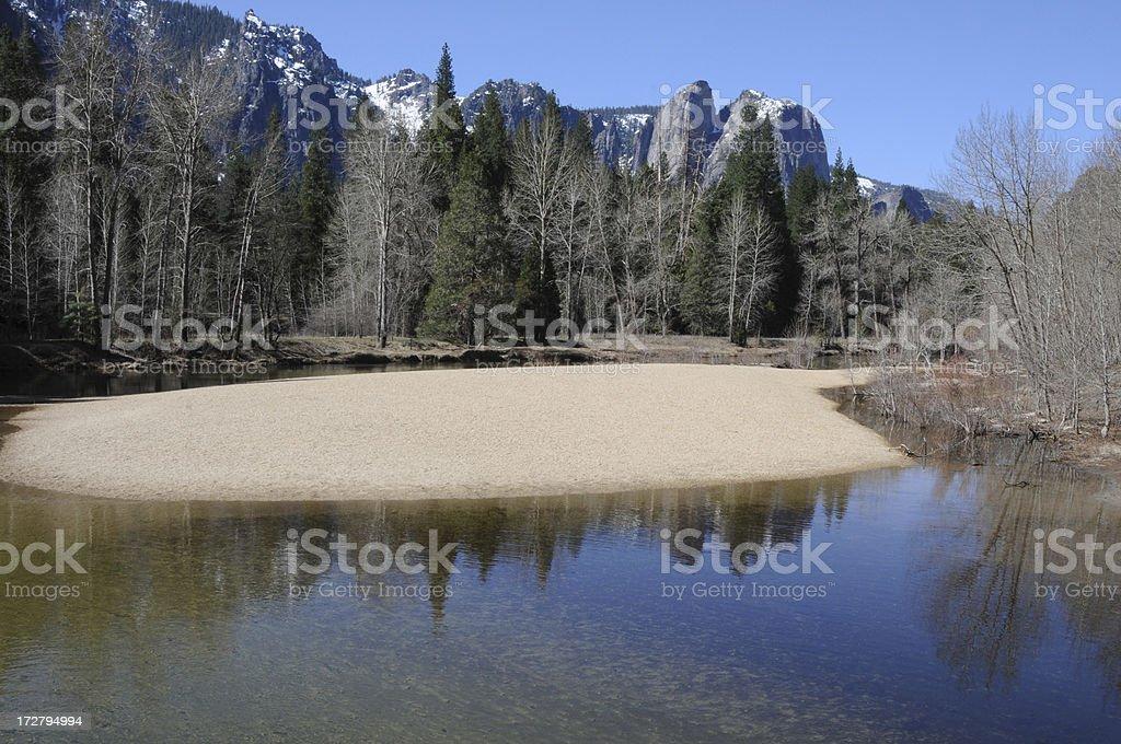 Catherdral Rocks, Yosemite royalty-free stock photo