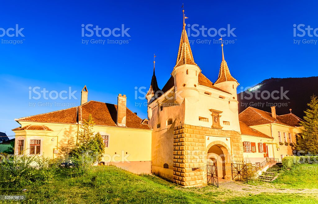 Catherine Gate, Brasov, Romania stock photo