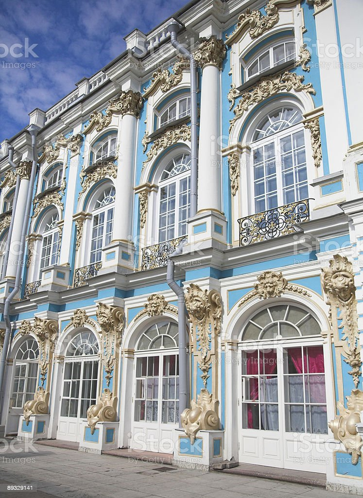 Catherine Palace Exterior in St. Petersburg royalty-free stock photo