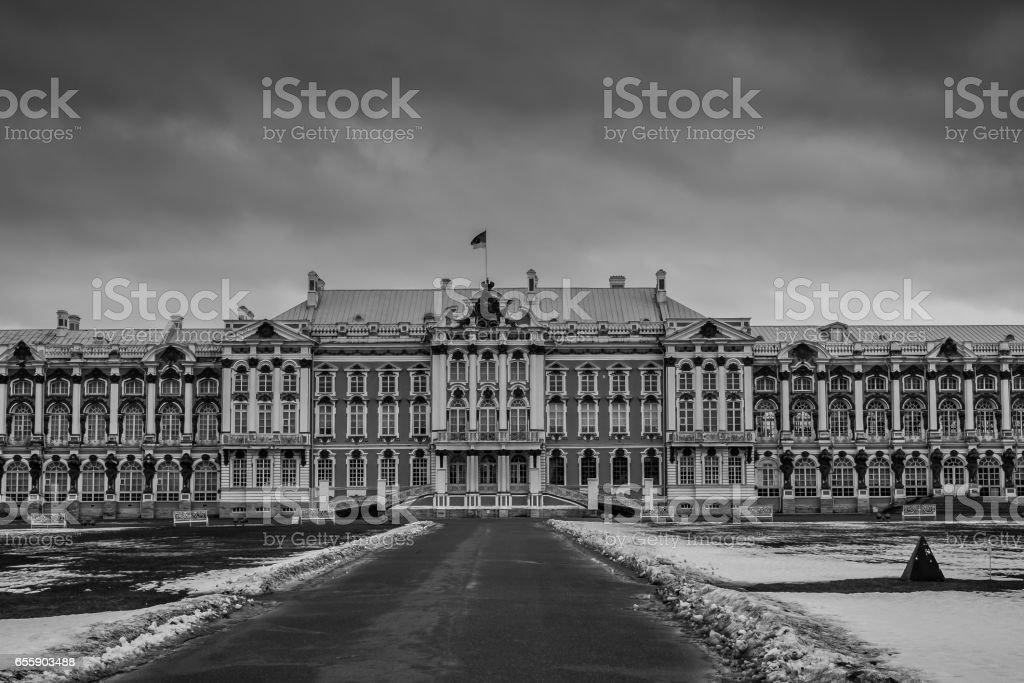 Catherine Palace in Tsarskoye Selo, Pushkin,  Saint Petersburg stock photo