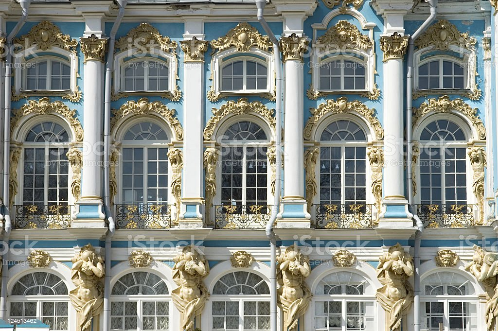 Catherine Palace Pushkin Russia stock photo
