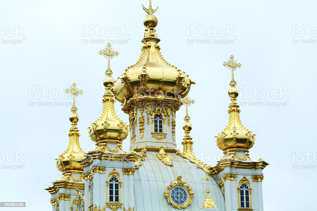 Catherine Palace, Tsarskoye Selo (Pushkin), St. Petersburg, Russia stock photo