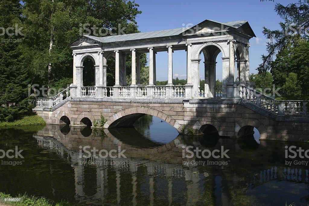 Catherine park in Tsarskoye Selo stock photo