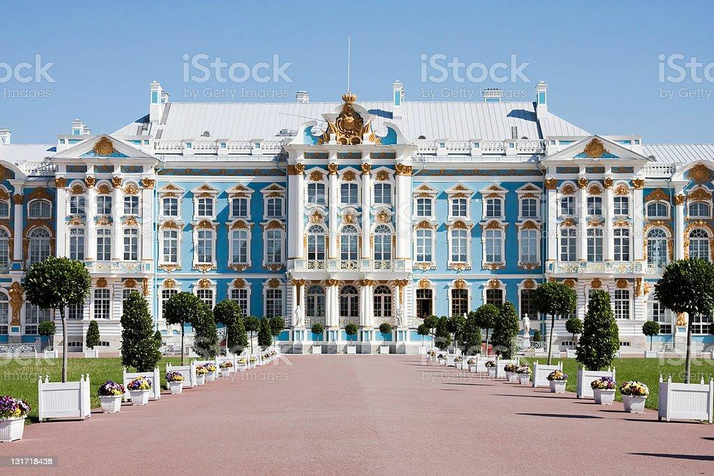 catherine's palace in tsarkoie selo, russia stock photo