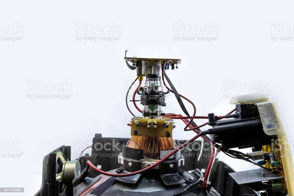 CRT Cathode Ray Tube TV part stock photo