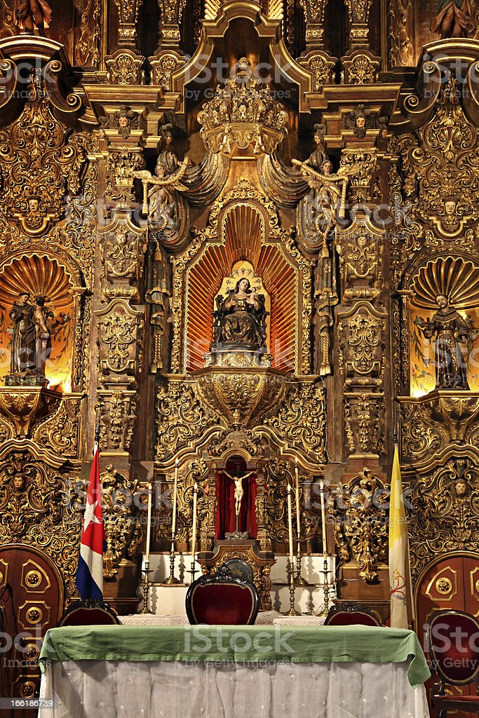 Catholic altar in Remedios royalty-free stock photo