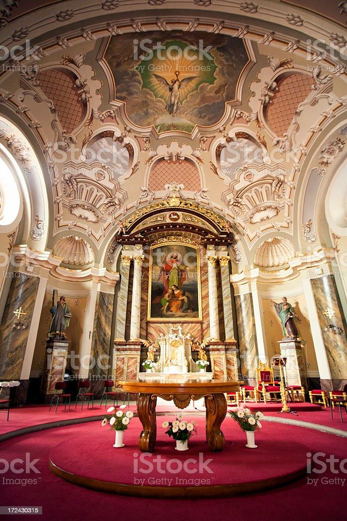 Catholic altar royalty-free stock photo