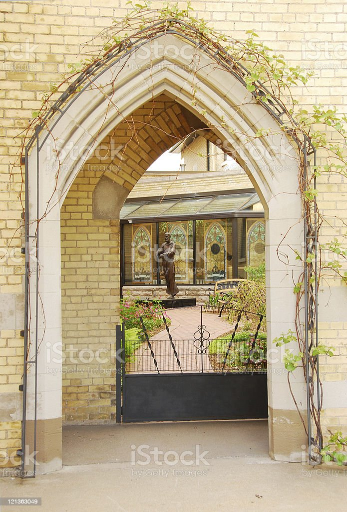 Catholic Arch stock photo