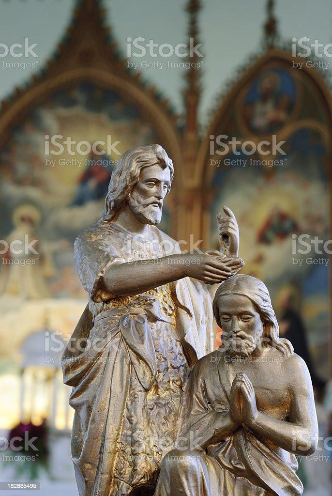 Catholic Baptismal Font royalty-free stock photo