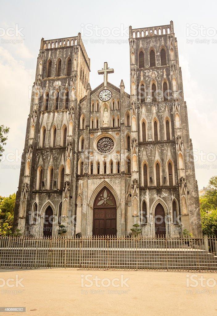 Catholic Cathedral, Hanoi, Vietnam stock photo