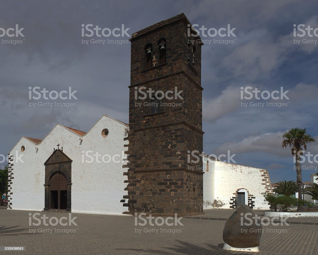 Catholic cathedral in the city of LaOliva stock photo