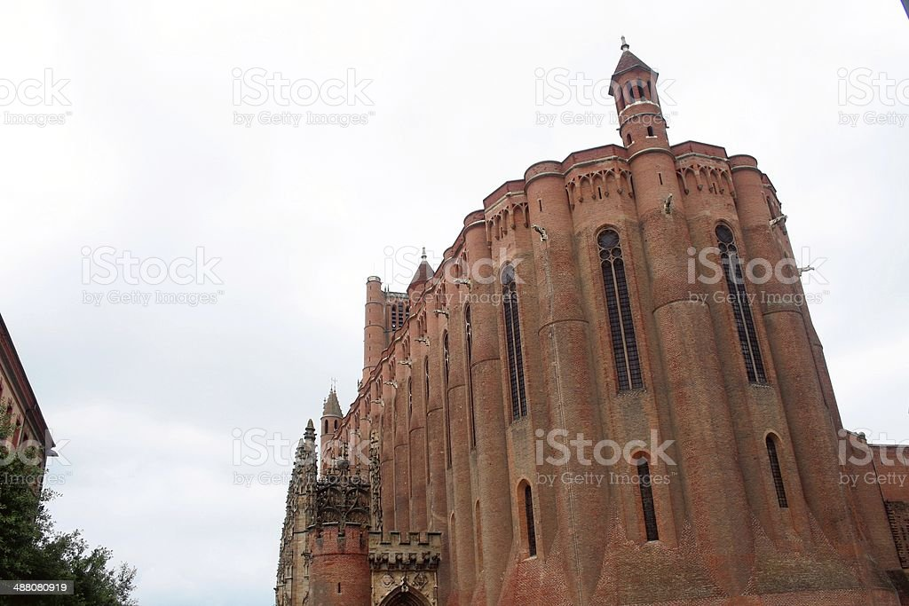 Catholic Cathedral of Sainte C?cile Cathedral at Albi France stock photo