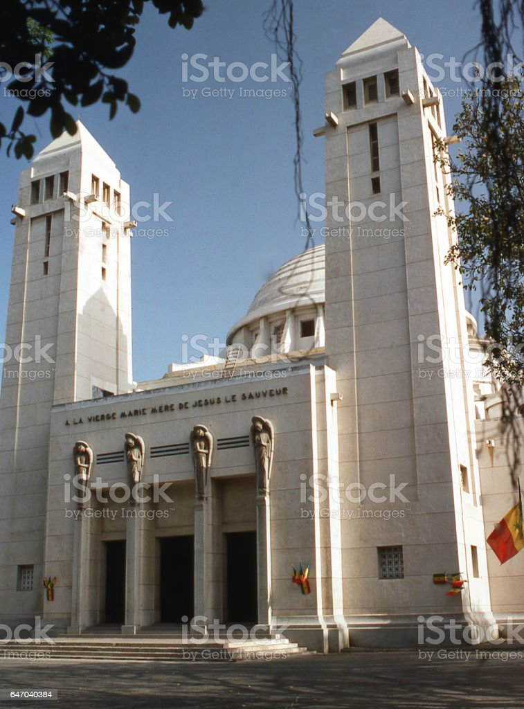 Catholic Church and Cathedral Lome Togo Africa stock photo