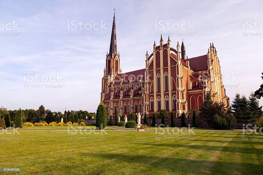 Catholic Church, Belarus stock photo