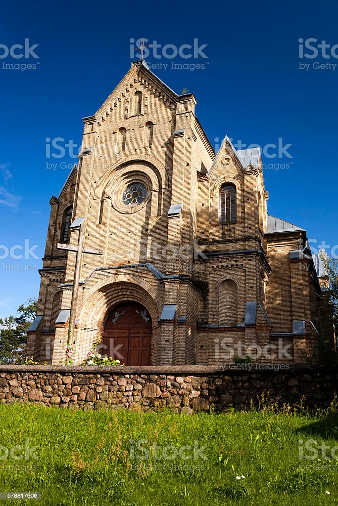 Catholic Church Belarus stock photo